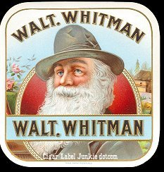 Walt Whitman outer cigar label