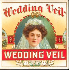 Wedding Veil outer cigar label