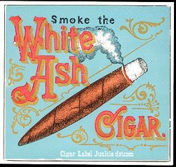 White Ash outer cigar label