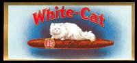 White Cat end cigar box label