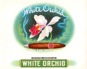 White Orchid inner cigar label
