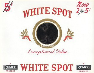 White Spot inner cigar label