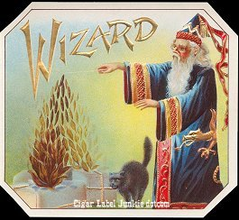 Wizard outer cigar label