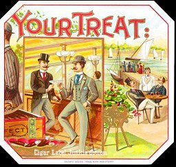Your Treat outer cigar label