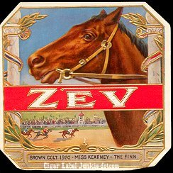 Zev outer cigar label